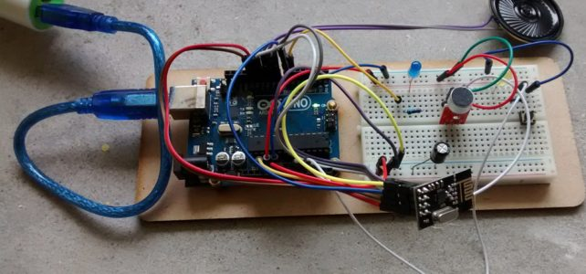 Arduino walkie talkie with nRF24L01