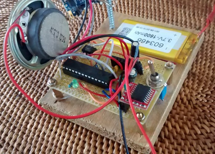 Motion sensor alarm with RTC (bare bones Arduino