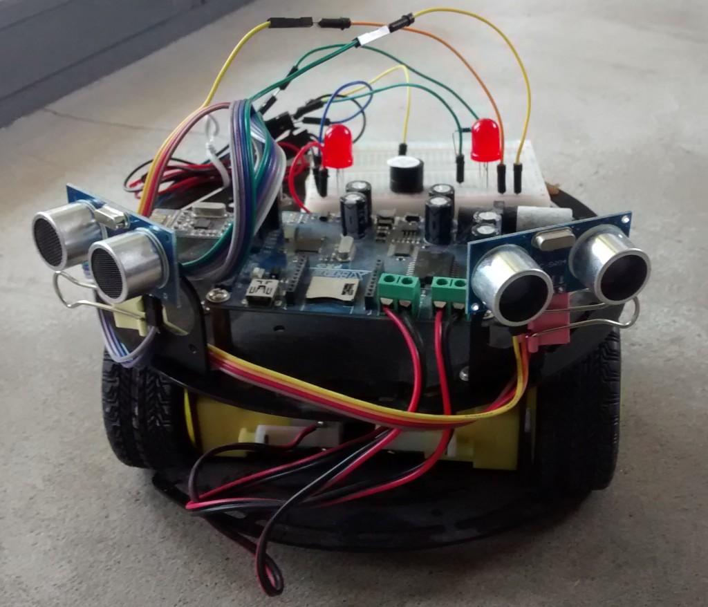 Autonomous robot with ultrasonic eyes cassiopeia ltd