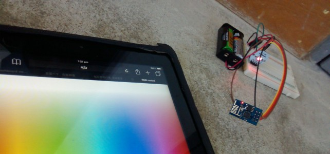 RGB control over wifi (with ESP8266 ESP-01)