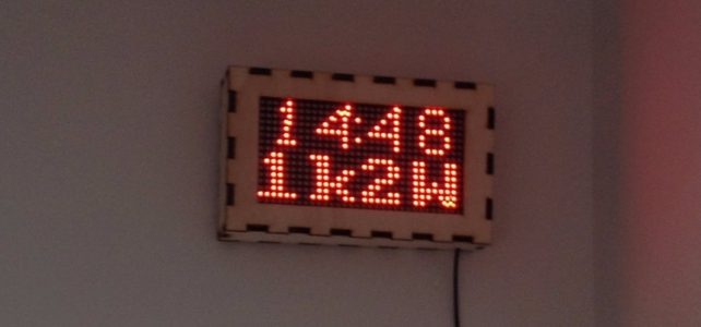 IoT clock with LED matrix (Arduino & ESP8266)