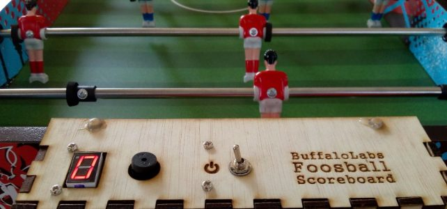 Arduino scoreboard for foosball table
