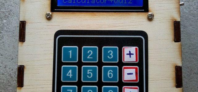 Arduino calculator with quiz