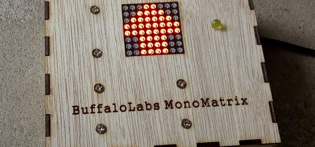 8×8 LED mono matrix with ESP8266 web server